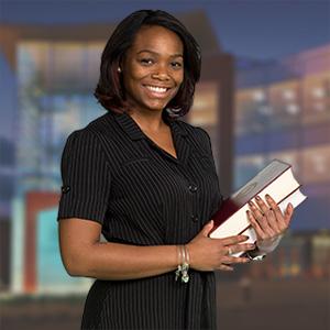 student representing business programs