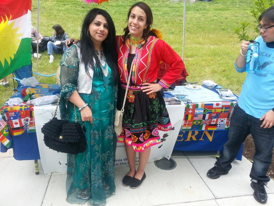 Members of the VWCC community dressed in clothes representing their culture at Local Colors.