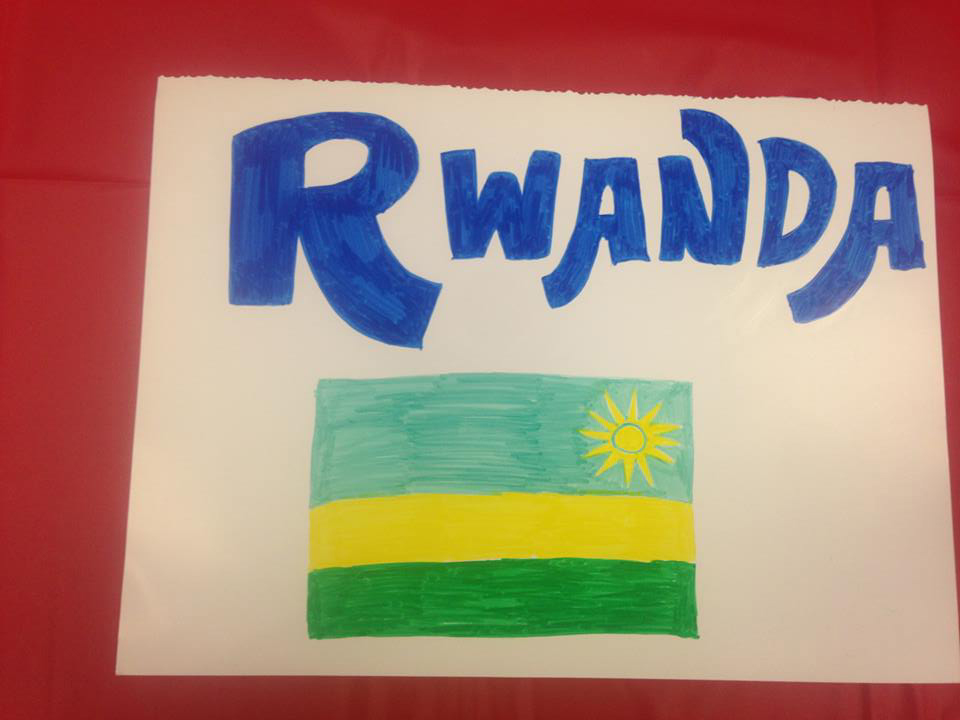 Rwanda was represented at the international student celebration. A picture of the flag is presented here.