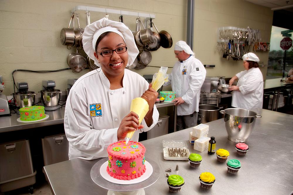 ShaWanda in the Culinary/Baking Program