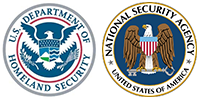 Logos for the NSA and DHS