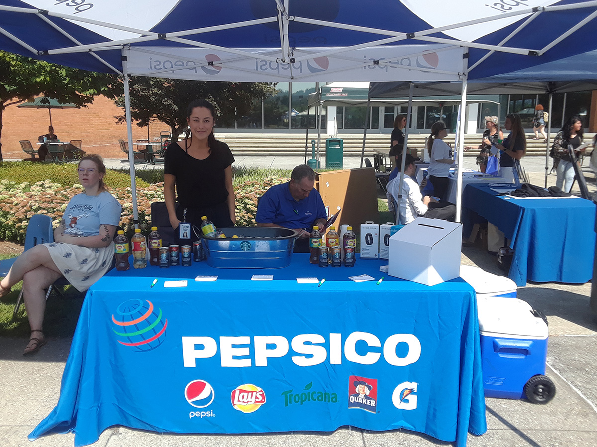 Pepsico provided information and giveaways at the VWCC Welcome Back Event.