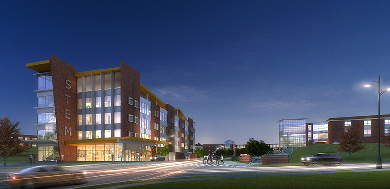 Proposed STEM Facility at Night