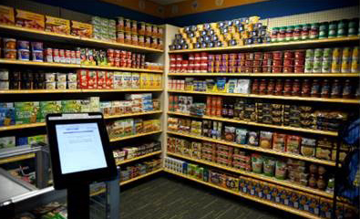 Photo of the food pantry