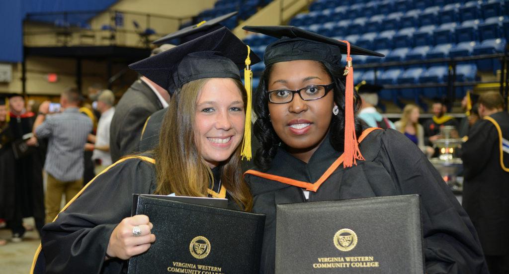 Graduation photo with 2 graduates